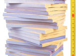 Documents and tape line — Stock Photo