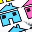 Pen and house — Stock Photo