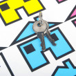 Key and house — Stockfoto