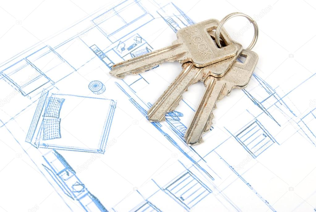 Key and blueprint — Stock Photo #13501967