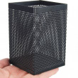 Steel mesh pen stand — Stock Photo