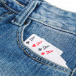 Poker and jeans — Stock Photo #13568431
