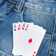 Poker and jeans — Stock Photo #13568560