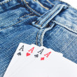 Poker and jeans — Stock Photo #13568587