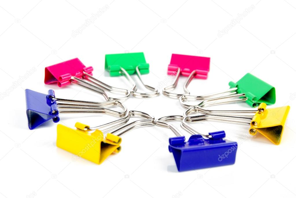 Paper clip on white background  Stock Photo #13560876