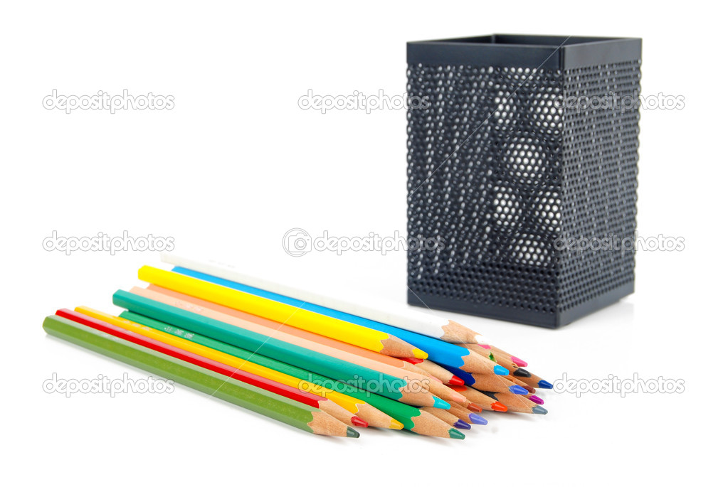 Color pencil and pot — Stock Photo #13564119
