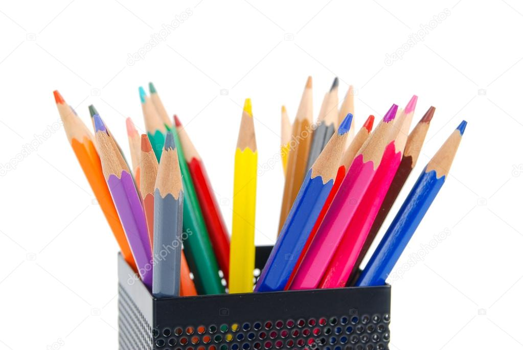 Color pencil and pot — Stock Photo #13564133