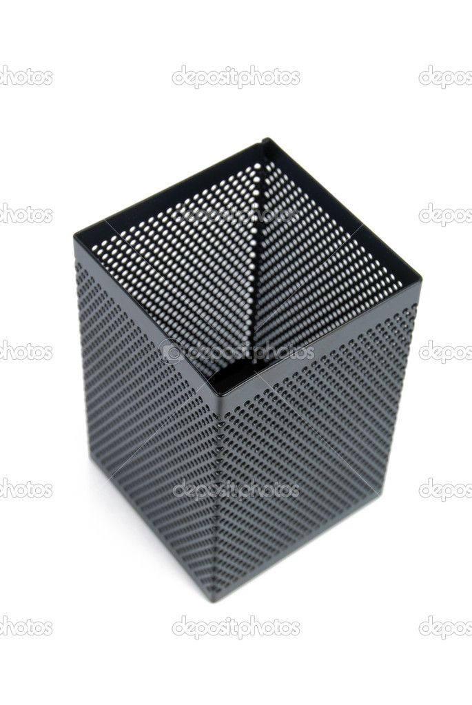 Steel mesh pen stand  Stock Photo #13564157