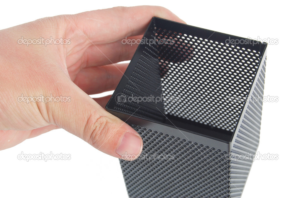 Steel mesh pen stand — Stock Photo #13564252