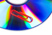 Paperclip and DVD — Stock Photo