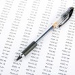 Pen and financial data — Stok fotoğraf