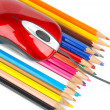 Color pencil and computer mouse — Stock Photo #13682906