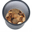Coin and pot — Stock Photo