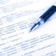 Html and pen — Stock Photo #13716543