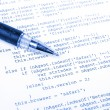 Html and pen — Stock Photo