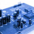 Stock Photo: Blue PCB
