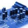 Blue PCB — Stock Photo
