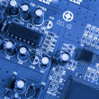 Blue PCB — Stock Photo #13718796