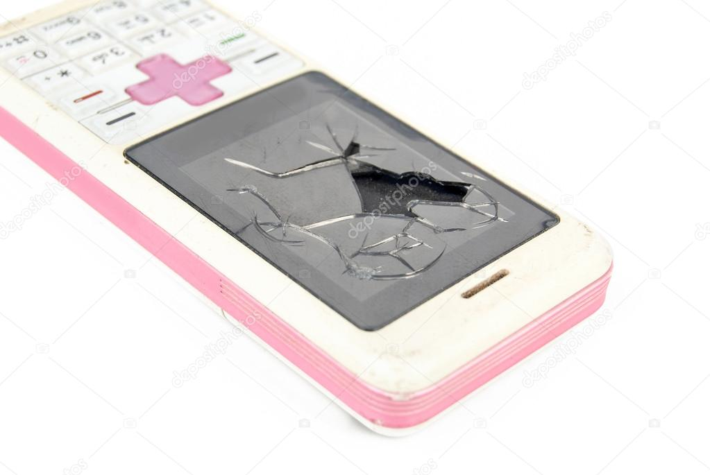 Broken mobile phone — Stock Photo #13730360