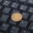 Royalty-Free Stock Photo: Computer keyboard and coin