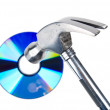 Stock Photo: Hammer and DVD