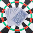 Target and poker — Stock Photo #13773380