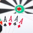 Target and poker — Stock Photo #13773387