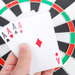 Target and poker — Stock Photo #13773392