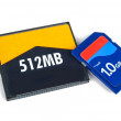 Memory card on white background - Foto Stock
