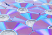 En hel del dvd — Stockfoto