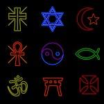 Neon religious symbols — Stock Vector #12610046