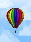 Balloon At Daytime — Stock Vector