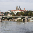 Prague castle and Vltava river — Stock Photo