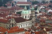 Prague - Saint Nicholas church — Stock Photo