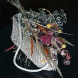 Stock Photo: Wicker basket with dried flowers