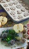 Christmas table mix — Stock Photo