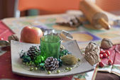 Christmas table. Rolling pin. — Stock Photo