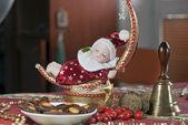 クリスマスの鐘のある人形 — ストック写真