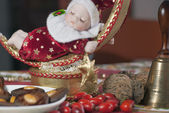 Detail of christmas doll — Stock Photo