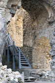 Castle of Lietava, interior walls with stairs — Stock Photo