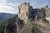 Ruins of Lietava castle — Stock Photo