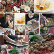 Royalty-Free Stock Photo: Christmas cooking collage