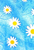 Painted daisies — Stock fotografie