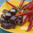 Chillies and chocolate — Stock Photo #15822409