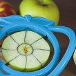 Stock Photo: Slicing apples