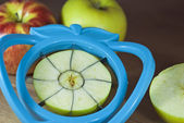 нарезки яблок — Стоковое фото