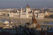 O edifício do parlamento, budapeste — Foto Stock