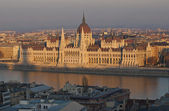 Famous building of Hungarian parliament in evening light — Stock Photo