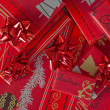 Stock Photo: Red Christmas gifts