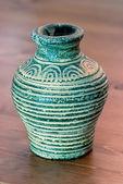 Turquoise vase of terracotta — Stock Photo